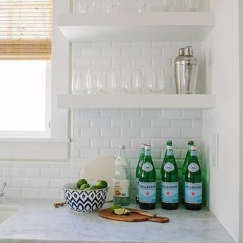 Kitchen Wet Bar Sink With Stacked Shelves
