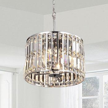 Round prism chandelier products bookmarks design inspiration justina crystal glass prism chrome pendant chandelier aloadofball Gallery