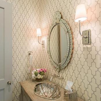Relatively Moroccan Tile Powder Room Floor Design Ideas BI02