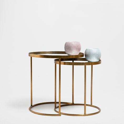 Brass Round Nest Of Tables