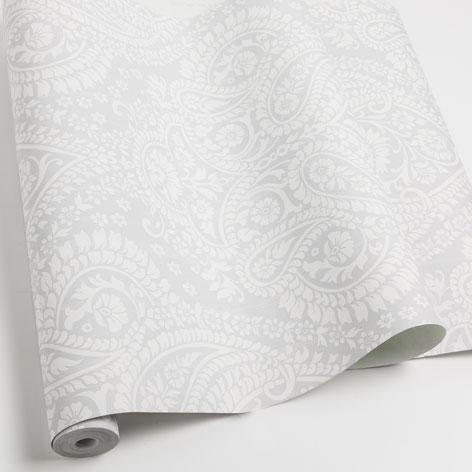 Grey And White Damask Wallpaper