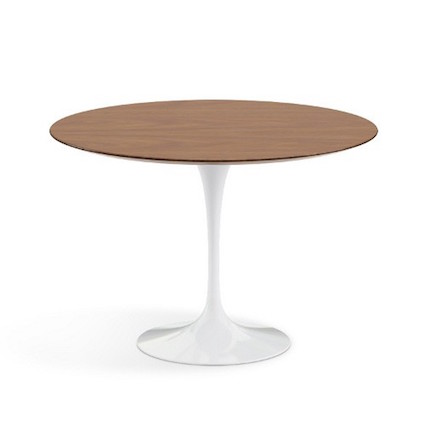 Saarinen round dining table with wood top look for less for Looking for round dining table