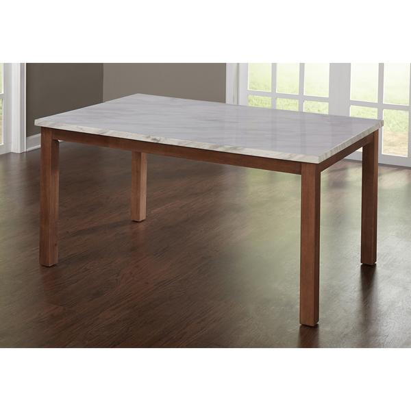 Simple Living Edina White And Brown Dining Table