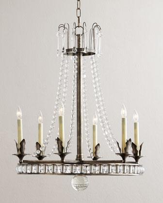 Comfort regency style brass 6 light chandelier visual comfort regency style brass 6 light chandelier mozeypictures Gallery