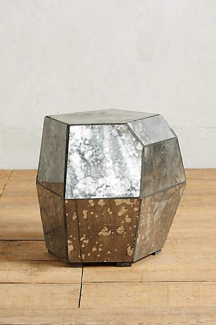 Westelm.com · Faceted Mirror Side Table View Full Size