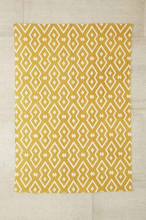 Brand new Magical Thinking Salta Mustard Geo Printed Rug LW87