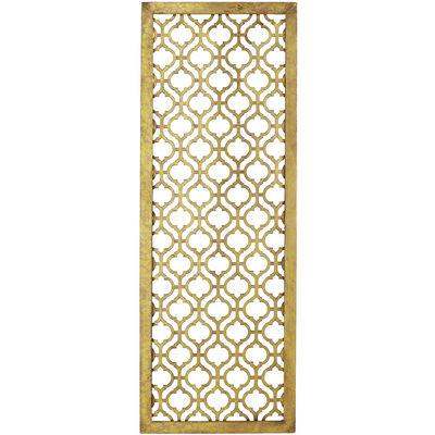Gold School Of Fish Three Piece Wall Panel