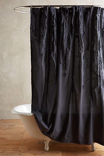 Slate Draped Wisteria Shower Curtain