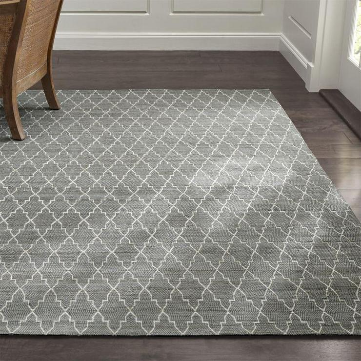 Grey Trellis Rug Home Decor