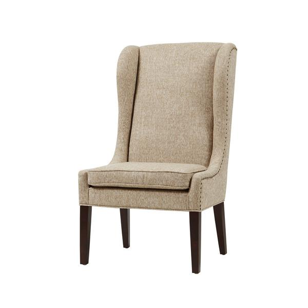 Madison Park Sydney Beige Traditional Wing Dining Chair