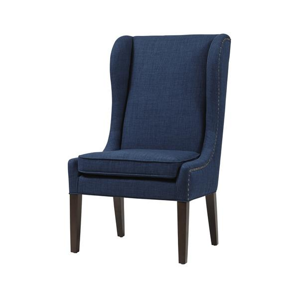 Madison Park Sydney Navy Traditional Wing Dining Chair
