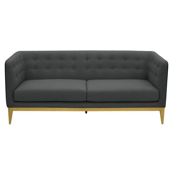 aurelle home rose dark grey sofa - Grey Tufted Sofa
