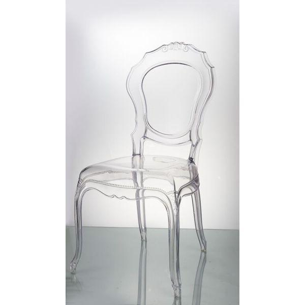 traditional clear dining chair
