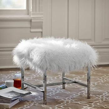 Faux Fur Stool - Products, bookmarks, design, inspiration and ideas.