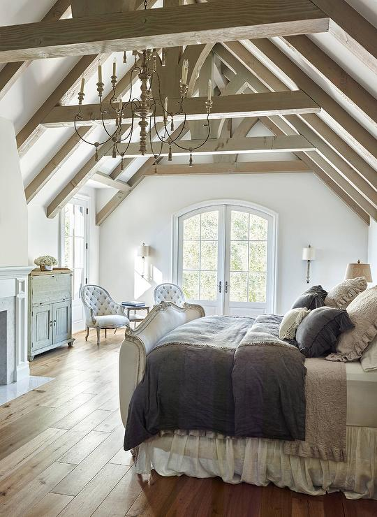 French bedroom with truss ceiling french bedroom for French bedroom design