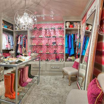 Contemporary Walk In Closet with Leaning Floor Mirror - Contemporary ...