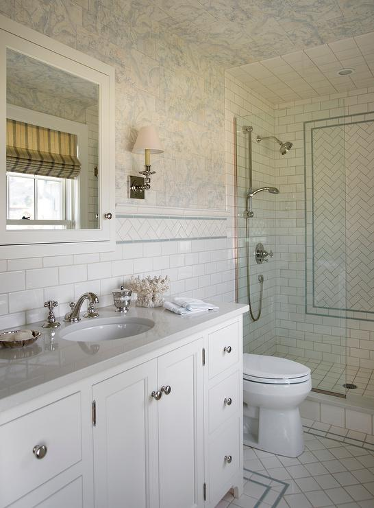 Blue Bathroom Paint Colors Transitional Bathroom