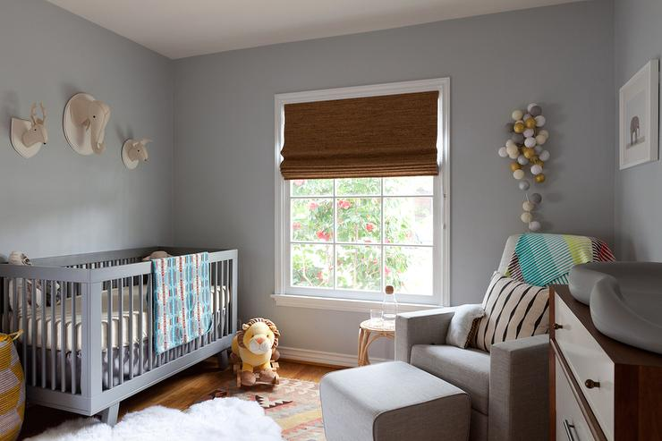Blue Gray Nursery Paint Colors Design Ideas