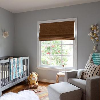 Gray Boy Nursery With Pops Of Yellow Contemporary