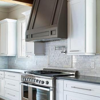 White Kitchen With Dark Taupe Hood