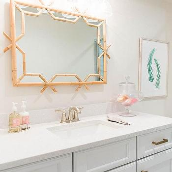 White Bathroom Cabinets With Brushed Brass Hardware