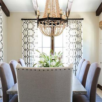 Beige Microfiber Dining Chairs Design Ideas