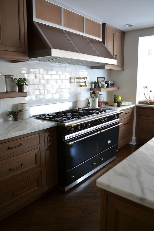 Maple Cabinets With Lacanche Cluny Cooking Range