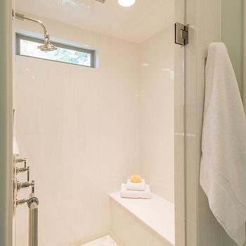 High Narrow Shower Window Design Ideas