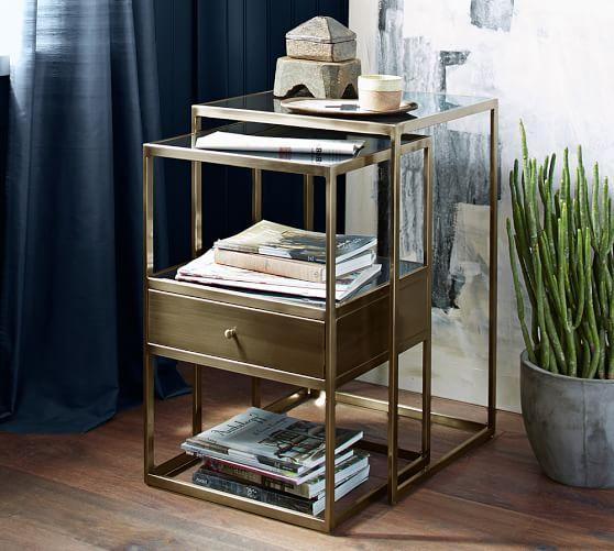 Bexley Brass Nesting Bedside Tables