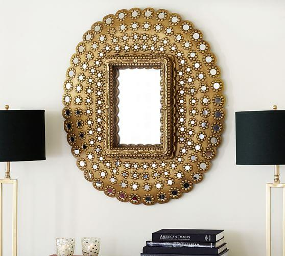 Brass Peacock Mirror