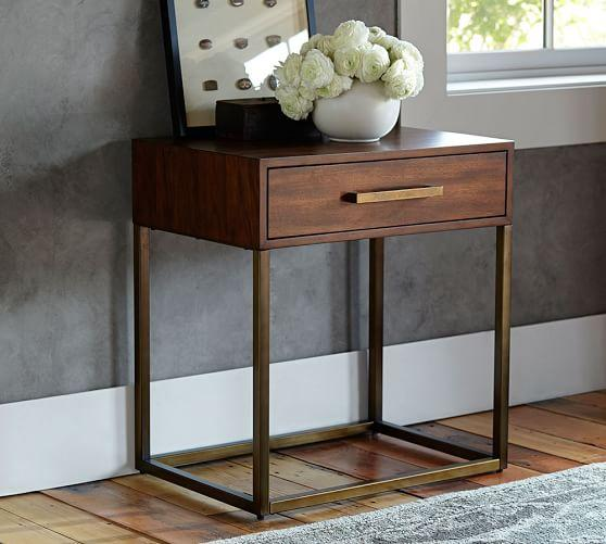 Attrayant Fitz Brown Wood Bedside Table