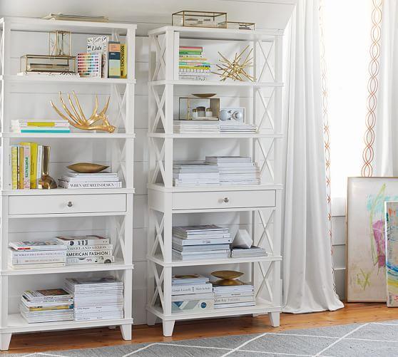 Clara White Bookcase