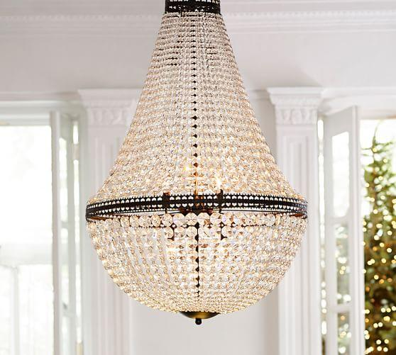 Mia Faceted Crystal Extra Large Chandelier