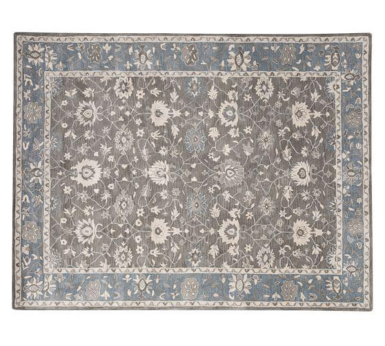 Blue Persian Rug Wool Home Decor