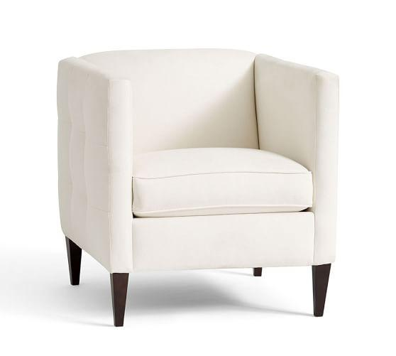 Charming Lexi Cream Upholstered Armchair