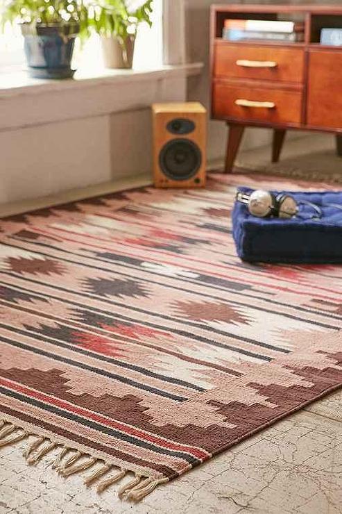 Ancestral tree ivory wool rug
