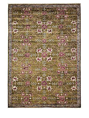 Darya Rugs Ikat Collection Midnight Oriental Rug In Blue