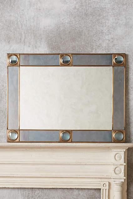 Antique Silver Telescope Glass Mirror