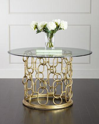 Worlds Away Jennifer Gold Leaf Dining Table I Layla Grayce