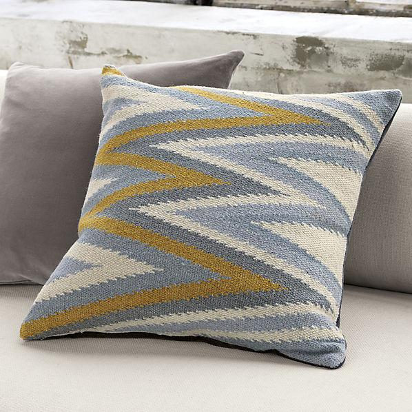 Fresh Blue and Yellow Groove Pillow DN84