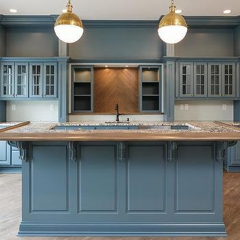 Kitchen Cabinets U Shaped With Island blue u shaped kitchen island design ideas