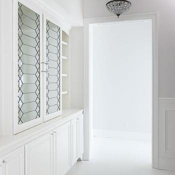 Leaded Glass Linen Cabinet Doors Design Ideas