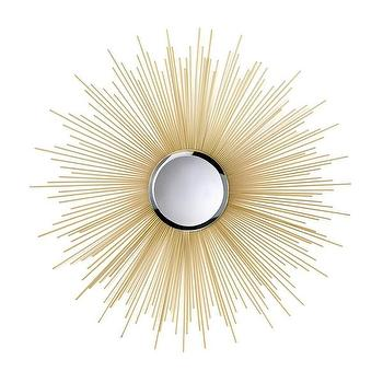 Decorative Starburst Gold Wall Mirror