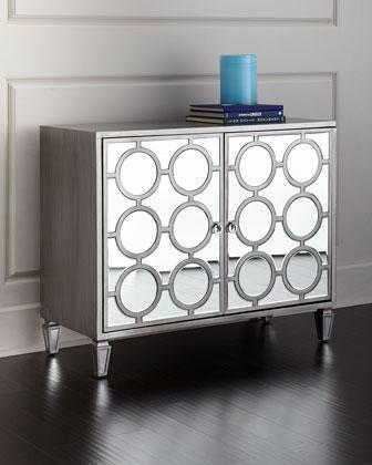 Upton Silver Mirrored Cabinet
