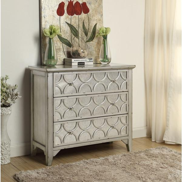 Silver Weathered Silver Three Drawer Cabinet