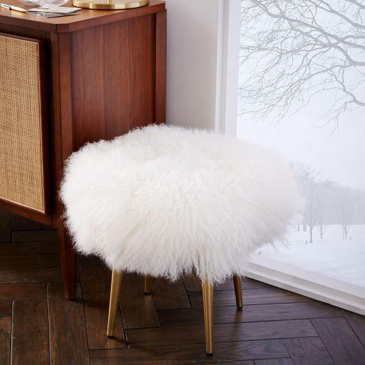Lamb Fur Stool Products Bookmarks Design Inspiration