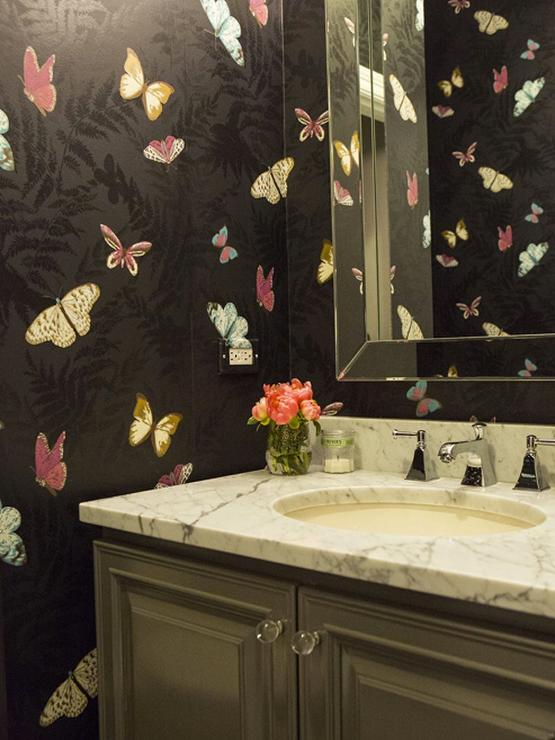 Black Powder Room Cottage Bathroom The Fat Hydrangea