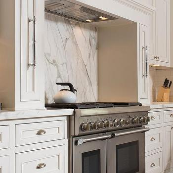 Cooking Nook With Pull Out Spice Cabinets Concealed Kitchen Hood Design Ideas