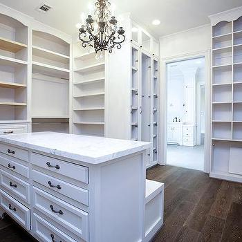 Genial Closet Island With Drop Down Bench