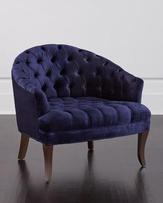 Navy Jonathan Adler Goldfinger Lounge Chair